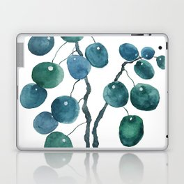 Chinese money plant watercolor Laptop & iPad Skin