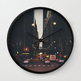 sunset in the city ... Wall Clock