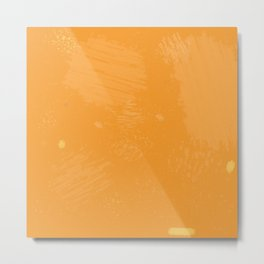 Tortured Orange Metal Print