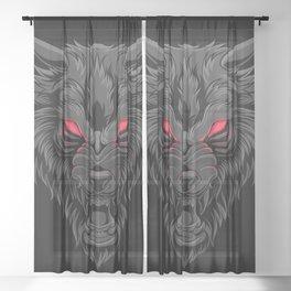 Fenrir Wolf - Viking Symbol - Norse Mythologie Sheer Curtain