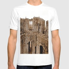 Castle Walls MEDIUM White Mens Fitted Tee