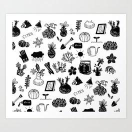caudex mania ver.2 Art Print