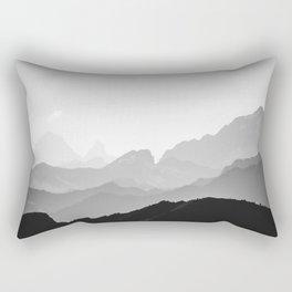 Layers (Black & White) Rectangular Pillow