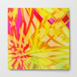 Shapes and Pineapples Metal Print