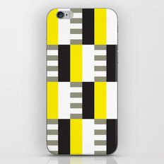 Yellow & black modernist pattern iPhone & iPod Skin