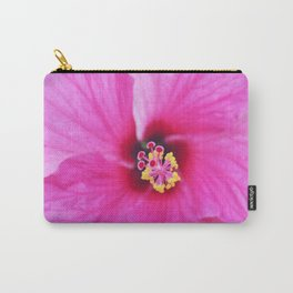 Tropia Pink Hibiscus Carry-All Pouch