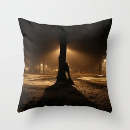 Foggy in My Mind Throw Pillow