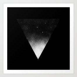 White Dot Triangle Art Print