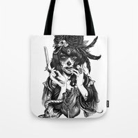 woman Tote Bags featuring Chicana by Rudy Faber