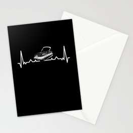 Pontoon Heartbeat Gift for Pontooning Stationery Cards