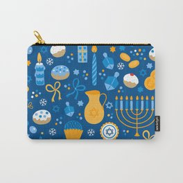 Hanukkah Happy Holidays Pattern Carry-All Pouch