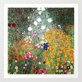 The Garden by Gustav Klimt Art Print