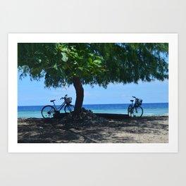 Beachside Bikes  Art Print