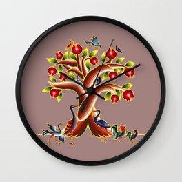Pomegranate Tree Illumination Wall Clock
