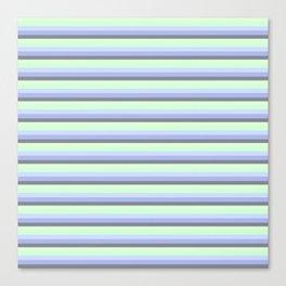 Pastel Blue Gray Seafoam stripeS. Canvas Print