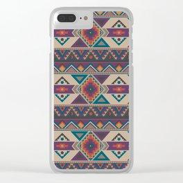 Southwest Geometric Repeat Clear iPhone Case