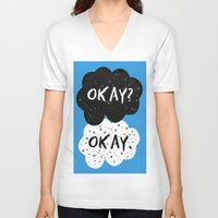 fault in our stars V-neck T-shirts featuring The Fault in our Stars by MariBee