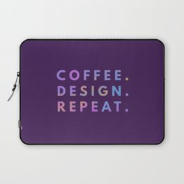 Coffee Design Repeat Laptop Sleeve