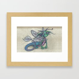 Dragonfly Dragon Framed Art Print