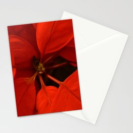 Poinsetta Center Stationery Cards