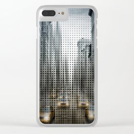 Graphic Art NYC 5th Avenue Traffic V Clear iPhone Case
