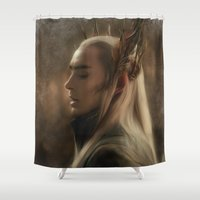 thranduil Shower Curtains featuring Thranduil by Andi Robinson
