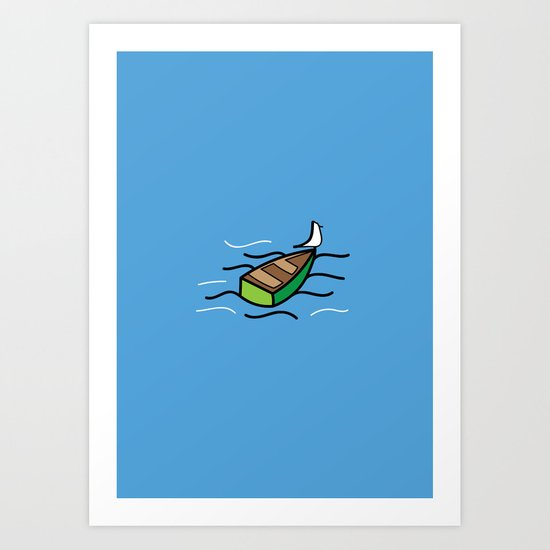 Mini Boat Art Print