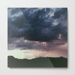 Late Mountain Storm Metal Print