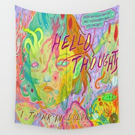 hello thoughts Wall Tapestry