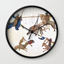 The Grotesque Tourney, Hours of Mary of Burgundy Wall Clock