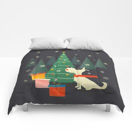 Little White Christmas Westie Comforters