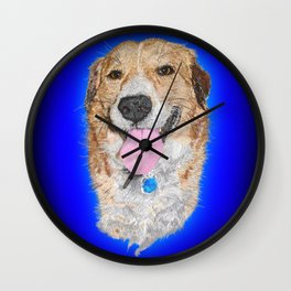 Dolly the Rescued Dog Wall Clock