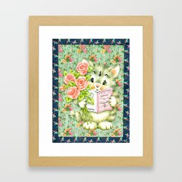 Hedgewitch cat handuct collage Framed Art Print