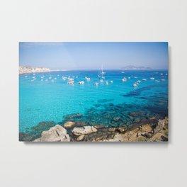 Favignana island Cala Rossa Metal Print