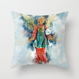 Angels Guidance Throw Pillow