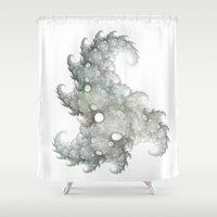 the thing Shower Curtains featuring Thing by made by nini