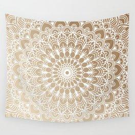 Gold Mandala 19 Wall Tapestry