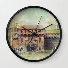 Cracow Barbican art Wall Clock