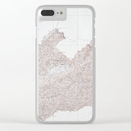 Vintage Smoky Mountains National Park Topography Map Clear iPhone Case