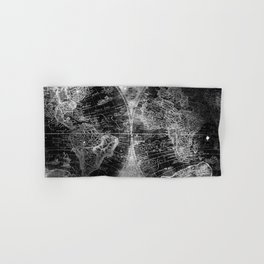 Antique Map Space Stars Black and White Hand & Bath Towel
