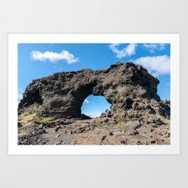 Iceland: Lava window at Dimmuborgir Art Print