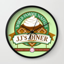JJ's Diner: A Parks and Recreation Parody Wall Clock