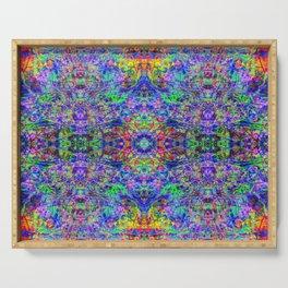 Blacklight Tye Dye Kaleidoscope Serving Tray
