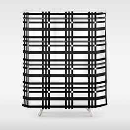Black n' White plaid Shower Curtain
