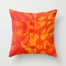 Red Yellow Simphony II Throw Pillow