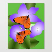 coasters Canvas Prints featuring Tawny Coasters by Lakshmi Gosyne