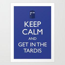 Get in the TARDIS Art Print