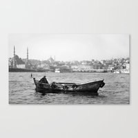 boat Canvas Prints featuring Boat by YsfKara