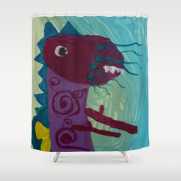 Dragon : Funny creature Series Shower Curtain
