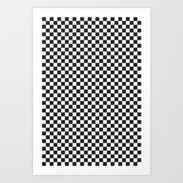 Classic Checkerboard Pattern Art Print